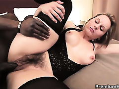 Magda gets the hole between her legs fucked hard interracially