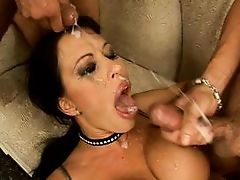 Conny Ferrera Deepthroat Cocks for a big Great Hiuge Facial