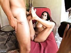 Brunette Ava Addams with massive melons enjoys great solo session