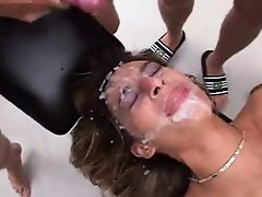 Turkish Slut gets gangbanged by Germans