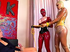 Perverted Latex Lucy and her sweet girlfriend Katia D Lys are wearing their sweet outfits
