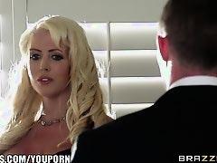 Brazzers - Sexy milf Alura Jenson fucks sons friend
