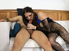Simply by looking at those beautiful stockings and that juicy wet pussy you want to fuck