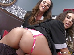 Passionate sexy Ariella Ferrera and Jynx Maze are sinfully sexy