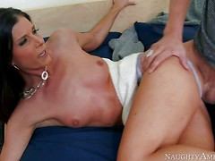 Beautiful skinny brunette India Summer, his buddy's mom, is next