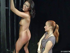 Naked helpless Sweet Claudia gets her sexy bare ass slapped