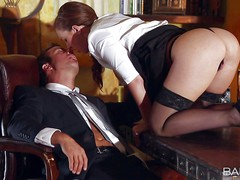 Maddy Oreilly does her bets to turn on her boss.