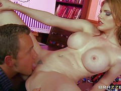 Lilith Lust gets her big round tits rubbed by hot