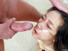 Blonde Marina Angel and cute asian Meiko Askara get their