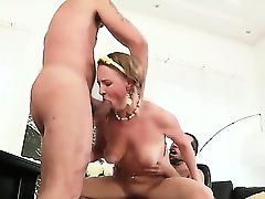 Lusty brunette slut Lolly Moon with natural boobs and slim sexy body gets her delicious