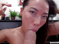 Lily Ocean is a sexy dark haired asian girl that