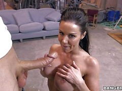 Dark haired MILF beauty Kendra Lust with amazing huge firm