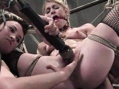 hot milfs getting punished together
