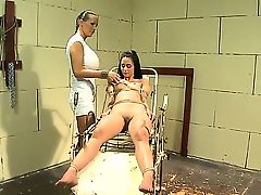Hana and Mandy Bright are very horny lesbian. One of them is the dirty patient who came for