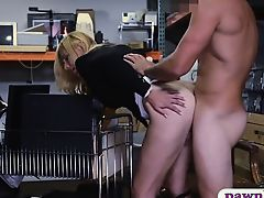 Hot milf pounded by pervert pawnkeeper