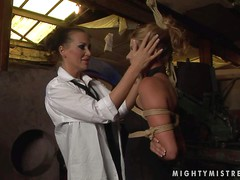 Cindy Hope and her aroused lesbian friend have fun and