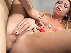 Adorable and dazzling whore Brynn Tyler revealing her sweet breasts and doing a splendid blowjob