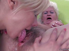 Lesbian oldie Effie is a sex hungry woman with experience.
