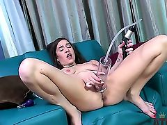 Dont be against of seeing masturbation from cute girl Alexa Amore. The longhaired gal