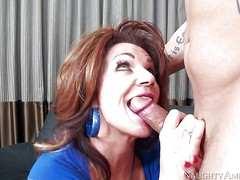 Cock hungry and busty cougar honey Deauxma gets down on
