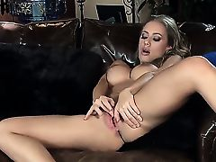 Splendid gal Nicole Aniston loves being home alone. She quickly gets fully naked