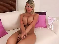 Amazing blonde with big tits