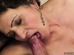 Brunette hussy with huge tits is hungry for pussy fucking