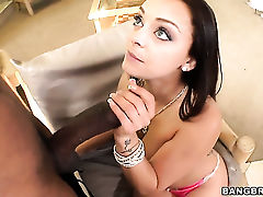 Slutty bombshell Liza Del Sierra and horny dude have