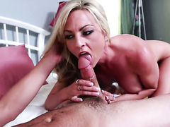 Tyler Nixon plays with warm Sindy Langes beaver before