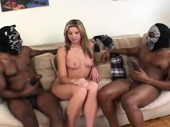 Two Huge Black Dicks For A White Chick