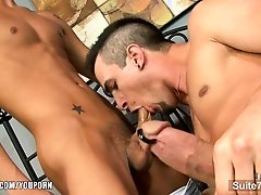 Sexy married man work a gay's dick