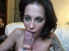 This cumshot compilation is all about lovely brunettes Anna Polina,