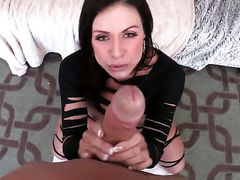Brunette Kendra Lust feels great with