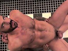 Huge dick gay oral sex with cumshot