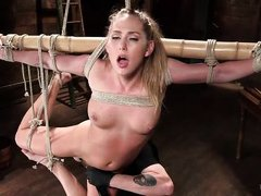 blonde bitch gets tied up
