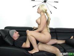 luscious blonde babe gets banged
