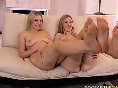 Alexa Grace and Giselle Palmer Interracial Foot Fetish