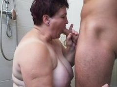 hey, granny, do you want to taste my cock?