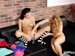 two horny lesbians with pissing addiction