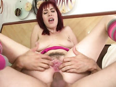 Sasha Sweet spreads her buttocks for lucky guy