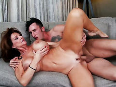 Brunette bombshell Deauxma with big breasts and clean