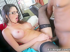 Exotic pornstars Dava Foxx, Lexington Steele in Best Stockings, Big Cocks xxx video