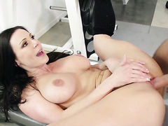 Kendra Lust with juicy tits is totally happy to be