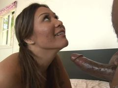 Pigtailed hottie Mena Mason gets fucked nice and hard by