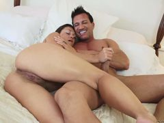 Big booty brunette Olivia Wilder rides her new toy and