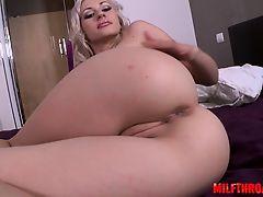 Busty housewife handjob cumshot