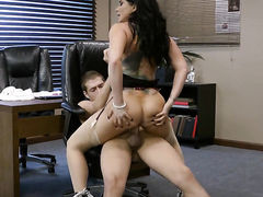 Romi Rain with huge boobs keeps her mouth wide open