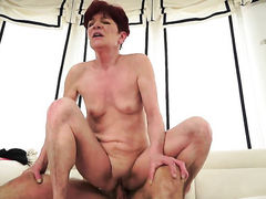 Redhead gets her hole humped rough by hot man
