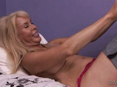 sweet transexual pleases blonde busty mature