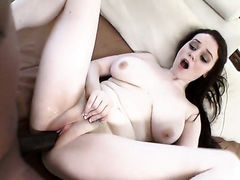 Brunette Tessa Lane with giant boobs and horny